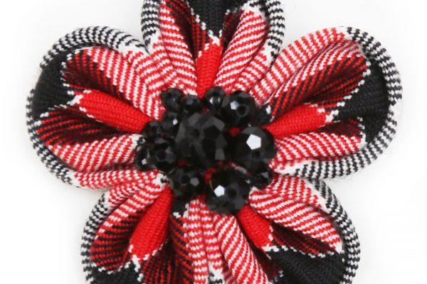 Flower Brooch Rounded - ScotDance Canada Tartan