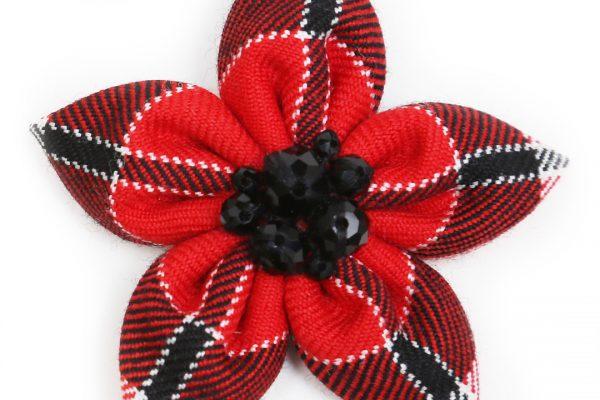 Flower Brooch - ScotDance Canada Tartan