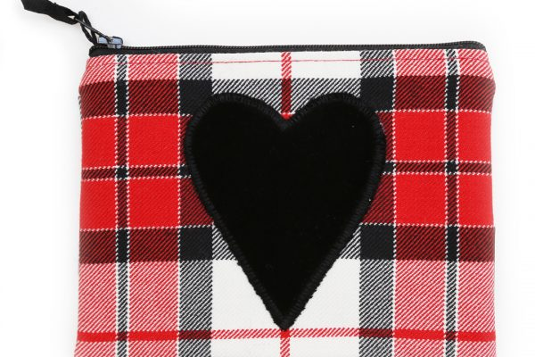 Heart Utility Pouch - ScotDance Canada Tartan