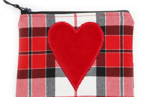 Heart Utility Pouch - ScotDance Canada Tartan Red